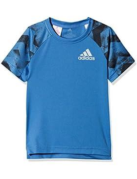 adidas YB Run tee Camisa de Golf, Niño, Azretr, 152