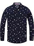 Scotch & Soda Jungen Hemd Slim Fit Shirt with Allover Mini Dessin in Oxford, Mehrfarbig (Combo B 22), 104