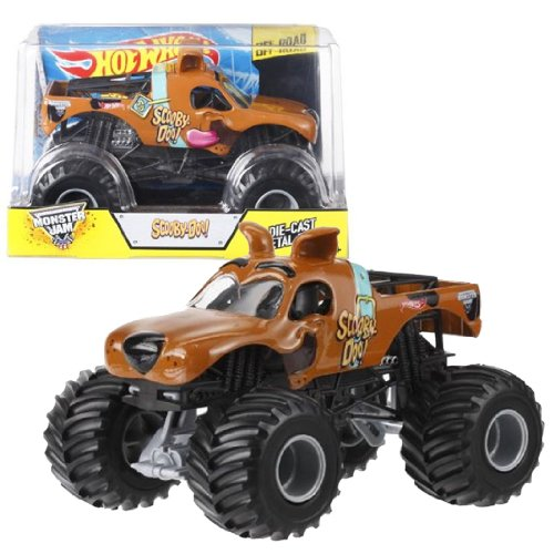1 Monster Diecast 24 Jam-trucks (Hot Wheels Year 2014 Monster Jam 1:24 Scale Die Cast Official Monster Truck Series #BGH23 : SCOOBY-DOO! with Monster Tires, Working Suspension and 4 Wheel Steering (Dimension - 7 L x 5-1/2 W x 4-1/2 H) by Monster Jam)
