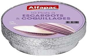Alfapac - 7545 KR10 - Barquette Aluminium - 10 Plats Escargots - Lot de 3