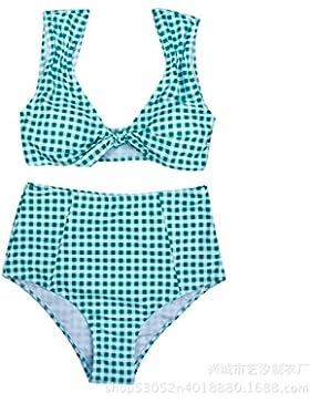 Moderno y cómodo bikini swimsuit _ tendencias de moda moderno y cómodo bikini swimsuit split de cintura alta,...