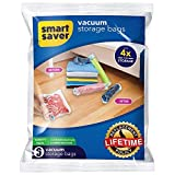 #3: Space Saver 6 x Premium Travel Roll up Compression Storage Bags for Suitcases - No Vacuum Needed - (3 x Large, 3 x Medium) 80% More Storage Than Leading Brands!