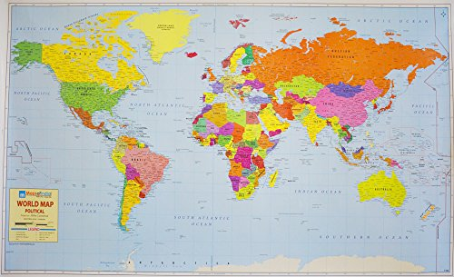 World Political Map on Art Paper