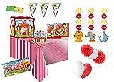 Irpot Kit N 63 Circus Party con cialda Rettangolare Coordinato ADDOBBI Festa