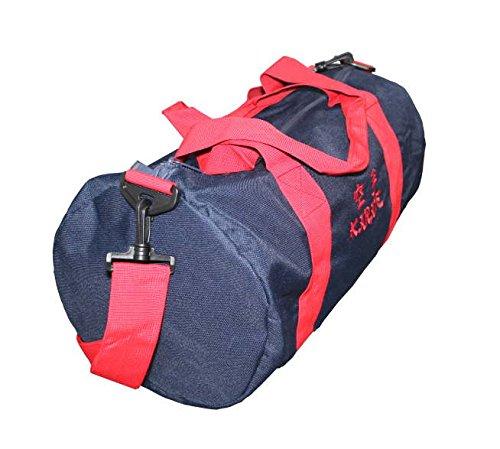 Rollentasche bestickt mit Aikdo, Judo, Karate oder Taekwondo, Farbe dunkelblau/rot Karate