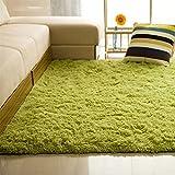 Steellwingsf, tappeto morbido rettangolare antiscivolo per la casa, camera da letto e soggiorno, Grass Green, 40*60cm