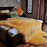 Pecora Tappeto Soffice 7-8cm Longhair Decorativa Tappetino per Il Letto per Camera da Letto Divano Pavimento,Camel-39×78.7Inch(100×200cm)