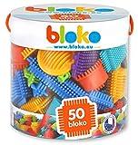 BLOKO - 503502 - Tube de 50 'BLOKO' - Dès 12 mois - Fabriqué en EUROPE - Jouet de construction