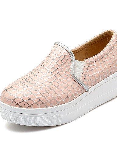 ZQ Scarpe Donna - Mocassini - Ufficio e lavoro / Formale / Casual - Punta arrotondata - Plateau - Finta pelle - Blu / Rosa / Bianco , pink-us8 / eu39 / uk6 / cn39 , pink-us8 / eu39 / uk6 / cn39 pink-us5 / eu35 / uk3 / cn34