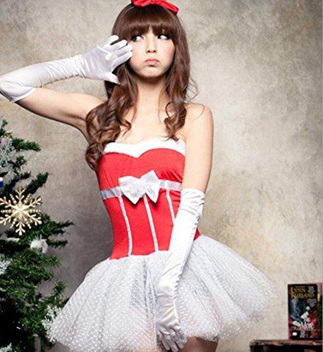 MFFACAI Frauen Damen Sexy Süße Fräulein Weihnachtsmann Weihnachten Spitze Kostüm