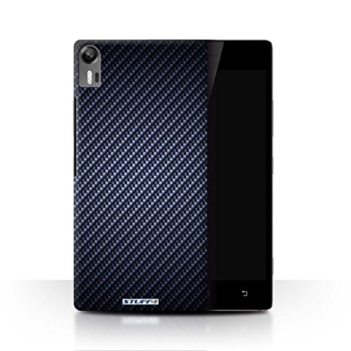 Stuff4® Hülle/Hülle für Lenovo Vibe Shot/Z90 / Blau Muster/Kohlenstoff-Faser-Muster Kollektion