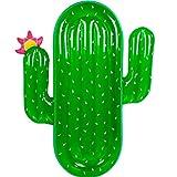 Mystery&Melody Cojín de Aire Flotante Inflable de la Cama del PVC del Flotador de la Piscina Flotante del Cactus Gigante para el Deporte acuático de la Playa