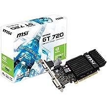 MSI GeForce GT 720 2 GB - Tarjeta gráfica GeForce GT 720 2 GB (LP, HDMI, DL-DVI-D, D-sub, DDR3, 256 M x 16 bit)