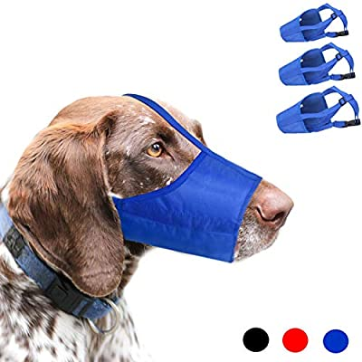 RockPet Overhead Strap Dog Muzzle Suit for Small, Medium and Large Dogs, Prevent Taking off, Biting and Chewing by Yiwu Tongyan Electronic Commerce Co.Ltd.