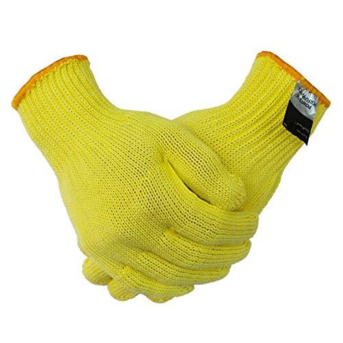 Motto. h kevlar lavoro guanti protettivi antitaglio guanti anti abrasione sicurezza 100% impermeabile, anti taglio guanti.(giallo)
