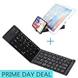 IKOS Portable Foldable Bluetooth Keyboard Compatible for iPhone X 8 7 6s Plus