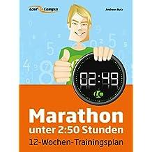 Marathon unter 2:50 Stunden