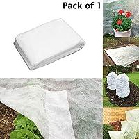 Vellón para protección de plantas de jardín –Ideal para césped, invernadero y permite el riego con tela de forro polar (Paquete de 1)