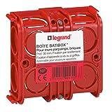 Legrand Batibox LEG90533 - Caja de empotrar cuadrada (combinable, para yeso, 30 mm de profundidad)
