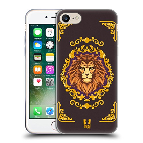 Head Case Designs Orange Rose Mod - Motifs Étui Coque en Gel molle pour Apple iPhone 7 Plus / 8 Plus Lion