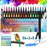RATEL Set de stylos pinceaux Comprendre 36 Stylos pinceaux aquarelle avec embout en nylon...