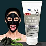 POSITIVE 3 in 1 Activated Charcoal (deep clean) Peel off mask for Men