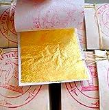 20 Gold Leaf Blätter Blätter - 999/1000 Sortenechtheit - 24 Karat - pures GOLD - ESSBAR