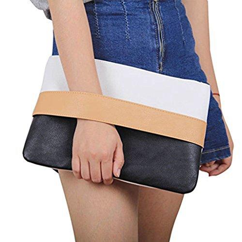 Badiya Damen Einzigartige Design-Mischfarben-Clutch Handtaschen Wristlets Geschenk der Mutter Tages Kaffee -