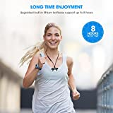 SoundPEATS Q12 Upgraded Version Bluetooth 4.1 Running Earphones with Stereo Magnetic Earbuds and Mic - Black