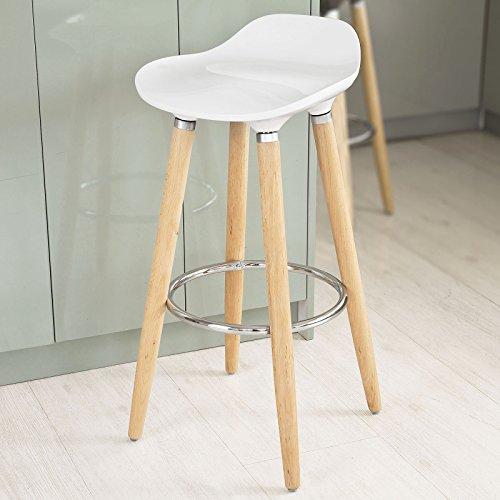 SoBuy® Mordernes Design, Barhocker, Barstuhl, Hocker, Tresenhocker, weiß, FST34-W
