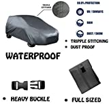#7: Fabtec Original Waterproof Triple Stitched Black / Grey Light Weight Car Body Cover For New Maruti Alto 800 (Tirpal) (Colour May Vary)