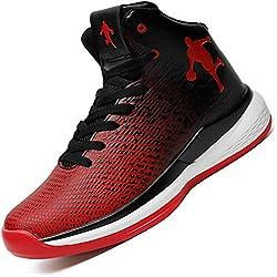 Zapatillas de Baloncesto Altas Superiores Zapatillas de Deporte para Hombres Zapatos Deportivos Transpirables Antideslizantes