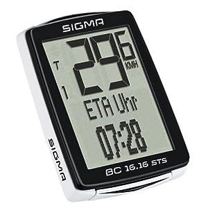 Sigma 01617 Ciclocomputador, Unisex adulto, Negro, Única