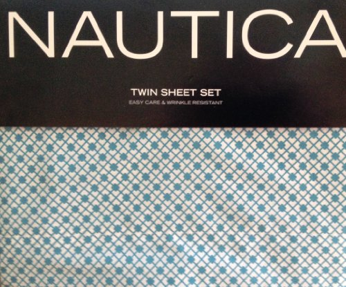 nautica-scallop-aqua-and-white-twin-sheet-set-by-nautica