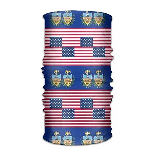 KENTONG Hill Unisex Usa Pennsylvania Flag Multifunctional Bandanas Sweatband Elastic Turban Headwear Headscarf Beanie Kerchief Usa Knot Turban