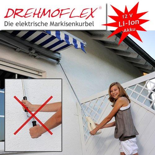 Drehmoflex - Elektrische Markisenkurbel / Mobiler Markisenantrieb mit 12V Li-Ion Akku