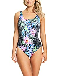 415b2ee5b0ce3 Zoggs Women's Scoopback One Piece Swimsuit with Tummy Control and Foam Cups