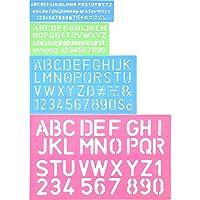 4 Piezas Plantilla de Letras Plantilla de Alfabeto Regla de Manualidad de Número Letra Plantillas Decorativas de Plástico Set de Guías, Colores Surtidos