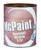 McPaint Dauerschutz Holzfarbe Lehmbraun 0,75 Liter