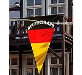 Deutschland Wimpel Fussball Fanartikel schwarz-rot-gelb 150x90cm Einheitsgröße