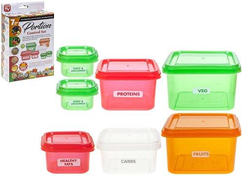 VINSANI 7Pc Gesunde Portionen Topf Teil Control Container Kit Gewichtsverlust Diet Meal - Portion Control Kit