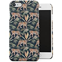 Tropic Jungle Animal Wild Tiger Pattern Apple iPhone 7 / iPhone 8 Snap-On Hard Plastic Protective Shell Case Cover Carcasa