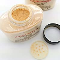 1,5oz Botella para maquillaje en polvo, mujer lujo impermeable polvo Poudre Luxe cara Loose powder- 42G niña belleza Natural Make up powder