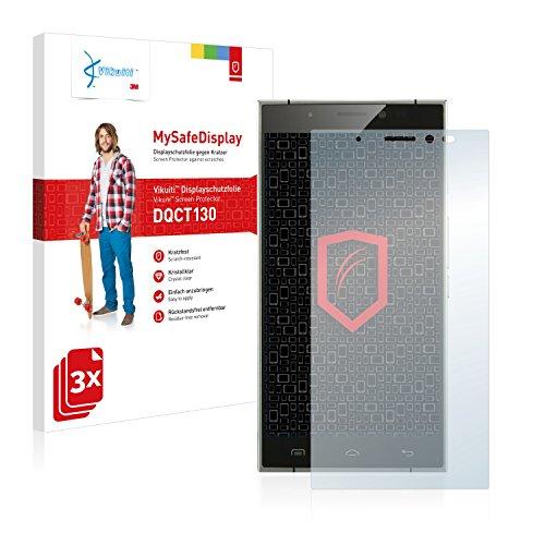 Vikuiti DQCT130 Doogee F5 Schutzfolie von 3M [3er Set] kristallklare Bildschirmschutzfolie Folie Bildschirmfolie