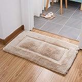 Bad Tür absorbierende Matte Hause Badezimmer Eingang Matte Schlafzimmer Bett Dicke Teppich Matte (Color : Rice Color, Größe : 20.08 * 33.86)