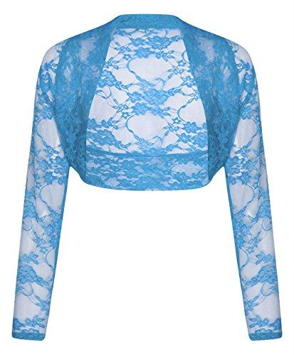 Comfiestyle - Boléro - Manches Longues - Femme taille unique Bleu ciel