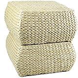 DaoRier Piccolo Sgabello Quadrato Ispessito Cuscino Paglia futon Morbido Yoga Cuscino Sedile Meditazione per casa Ufficio 30 * 30 * 18 cm, 7, Lunghezza 30 * Larghezza 30 * Altezza 18 cm, Paglia
