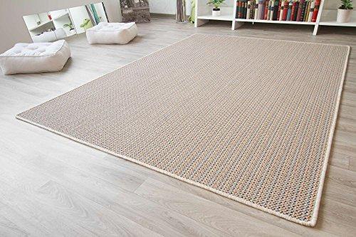 Designer Teppich Modern Friesland Sisal Optik in Bunt, Größe: 80x150 cm
