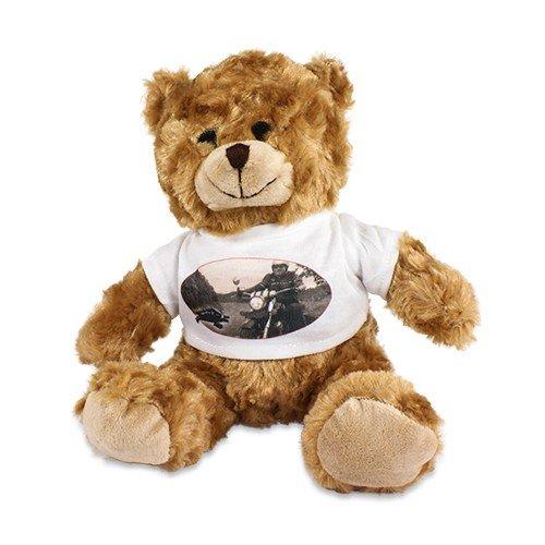 Plüsch Teddy 'Tim' mit individuell bedrucktem T-Shirt - Foto Logo Bild Sitzhöhe ca. 200 mm mit bedruckbarem Shirt mit Wunschmotiv (Bilder Von Teddybären)