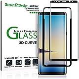 Galaxy Note 8Protector de pantalla de cristal (pantalla completa cobertura) (fácil instalación bandeja), amFilm Dot Matrix 3d curvado Samsung Galaxy Note 8Protector de pantalla de vidrio templado 2017